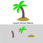 Layered Palm Tree