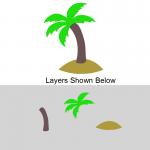 Layered Palm Tree