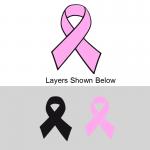 Layered Pink Ribbon