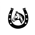Horse and Horse Shoe