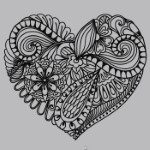 Zentangle Heart SVG